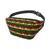 Bolsa de pecho Rastafarian Colores Marihuana Riñonera Cinturón Bolsa Inusual para Damas Viajes Fiesta Deportes Correr Senderismo Unisex