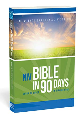 Compare Textbook Prices for NIV, Bible in 90 Days, Paperback: Cover to Cover in 12 Pages a Day Reprint Edition ISBN 0025986439408 by Zondervan