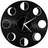 Reloj de Pared de Vinilo con Fases Lunares, decoración de Amigos, Sala de Estar, diseño Vintage para el hogar, Oficina, Bar, habitación, decoración del hogar
