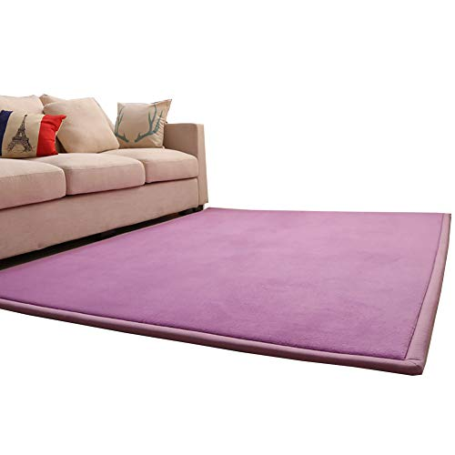 Teppich YXX waschbar Rutschfest für Latzhose, Küchenteppich, Teppich Violett Atmungsaktiv für Kinder 180×200cm