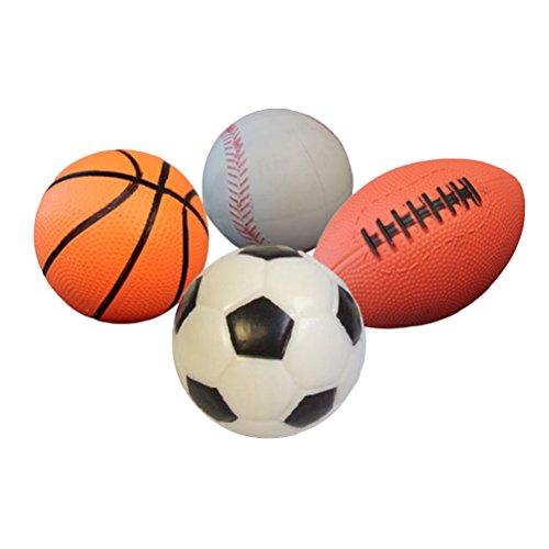 TOYMYTOY Packung mit 4 Sportbällen mit Fußball, Basketball, Spielplatz Ball, Fußball