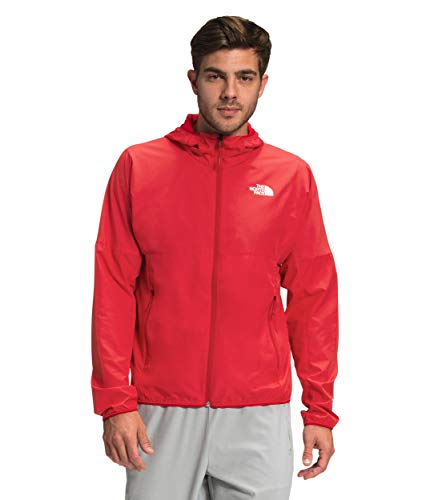 The North Face Men's Flyweight Hoodie, TNF Red, L