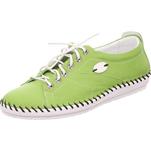 KRISBUT Damen 2412-1-1 Grüne Glattleder Sneaker Größe 41 EU Grün (Grün)