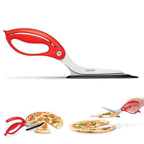 Dreamfarm (Red) Scizza Scissors, Non-Stick Stone Safe Pizza...