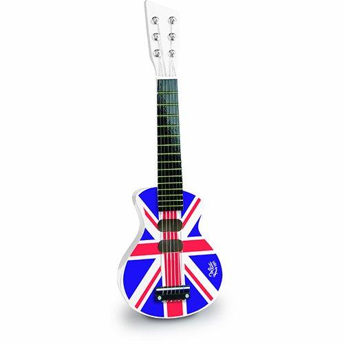 Vilac Vilac8329Union Jack Rock-n-Roll Spielzeug für Papageien Gitarre.