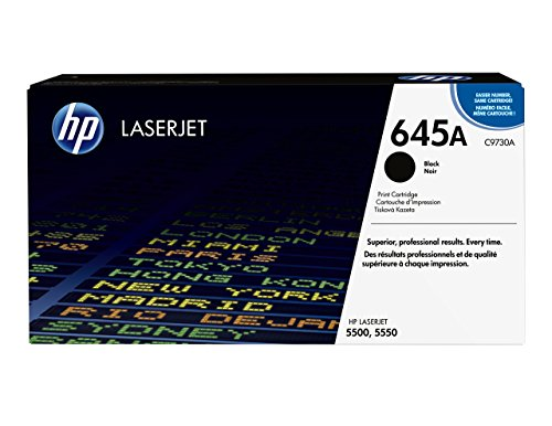 HP 645A (C9730A) Schwarz Original Toner für HP Color Laserjet 5500, HP Color Laserjet 5550
