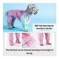 MINGTAI 調整可能なレインコート防水犬子犬のレインコートペットレインコートのために小型犬ペット服シュナウザーチワワヨーキー (Color : Standard Version, Size : L)
