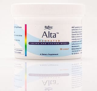 BioPure Alta Suppositories 30 Count (Ozonated Olive and Castor Oil and 100% Food Grade Cocoa Butter)