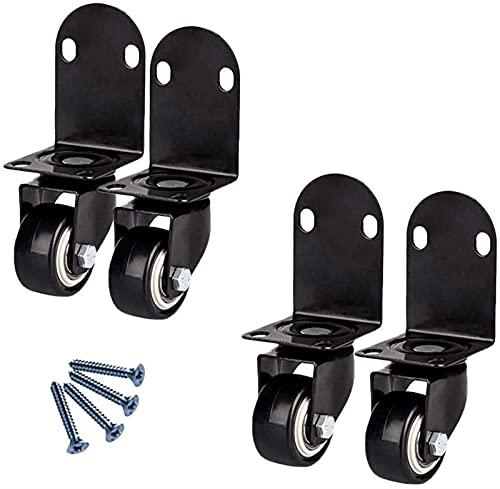 4 unids muebles ruedas l-tipo ruedas de ruedas, ruedas giratorias con freno, dirección de ángulo recto, para muebles para el hogar, gabinete de mesa de oficina, escritorio, tranquilo y resistente al d