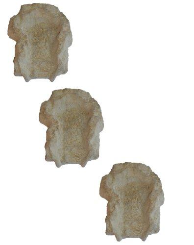 wasserkaskaden Cascade Weser Fels en 3 Parties, Beige/Brun, 70 x 55 x 16 cm / 3 pièces
