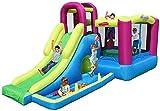Trampolín Multifuncional/Tobogán Infantil/Castillo Inflable/Zona de Juegos al Aire Libre/Trampolín Cuadrado casero/Mejor Regalo para niños Color 230 * 485 * 223 cm-230 * 485 * 223 cm_Co