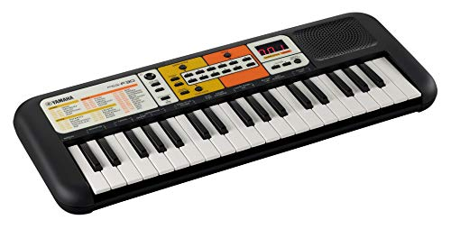 Yamaha PSS-F30 Mini Keyboard, schwarz – Leichtes Keyboard für Kinder mit Mini-Tastatur und wunderschönen Instrumentenklängen – Mit Mini-Kopfhöreranschluss