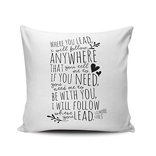 White Gilmore Girls Pillow