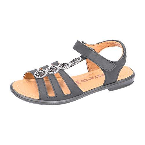 RICOSTA Mädchen Riemchensandalen ANA, Weite: Mittel (WMS), römer-Sandale Sandalette Gladiatoren-Sandale sommerschuh Kinder,schwarz,33 EU / 1 UK