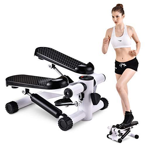 ZQNHXY Startseite Abnehmen Aerobic-Übung Fitnessgeräte Beine Arme Oberschenkel Toner Workout Trainingstreppensteiger, Stepper Maschine Schritt Schaukel