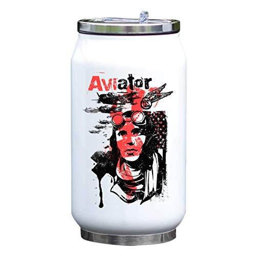 Aviator United States Air Force Retro Art Botella de agua