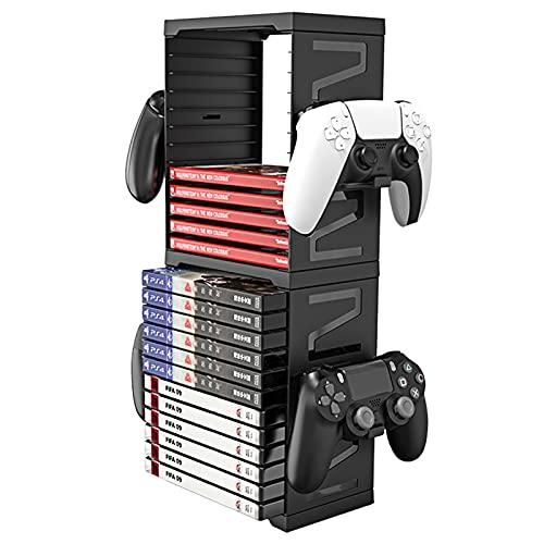 Casier de Rangement Xbox,Support pour Casque,Peut contenir 24 boîtiers de Jeux ou de disques Blu-Ray