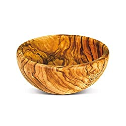 Amazon Olive Wood Bowl by Arteaga Legno Spello natural from Umbria Italy
