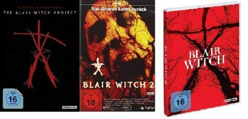 Blair Witch 1-3 DVD Set, Blair Witch Project, deutsch, uncut, 1,2,3, I, II, III