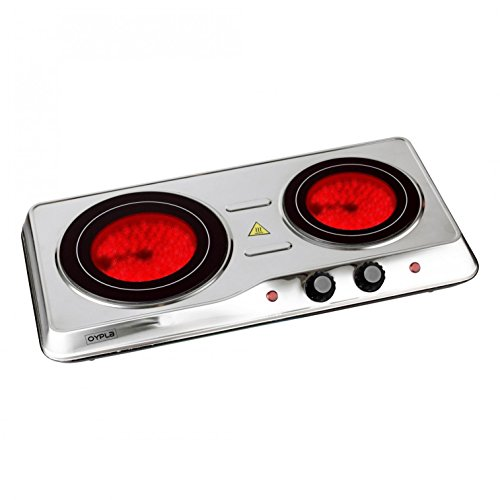 Oypla 2000W Ceramic Portable Infrared Electric Double Hot Plate Hob