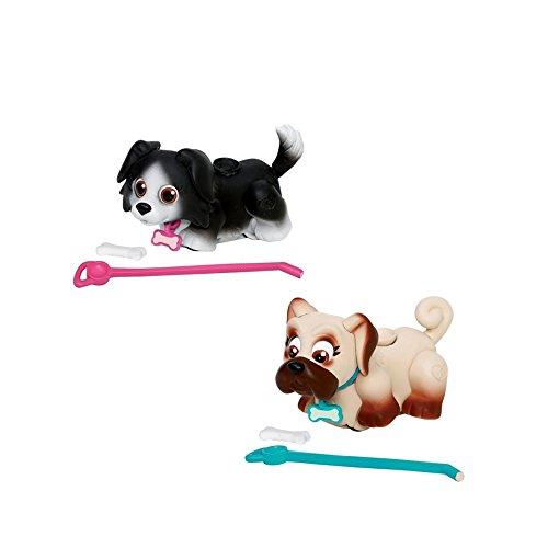 Giochi Preziosi - Pet Parade Cagnolini Interattivi con Osso e Guinzaglio, Razza Carlino e Border Collie