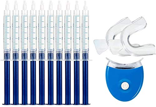 Teeth Whitening Kit Bleaching Gel Zahnaufhellungsgel für Weisse Zähne Bleaching Zähne Zu Hause Home Teeth Whitening Kit,10x Teeth Whitening 2x Dental Trays Gel