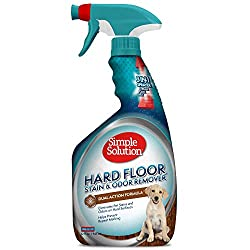 DESIGNED FOR HARD SURFACES - Simple Solution Hardfloor Pet Stain and Odor Remover is formulated for pet urine, feces, and other common messes on sealed hardwood floors, stone floors, linoleum, vinyl, brick, concrete, marble and ceramic tile DUAL ACTI...