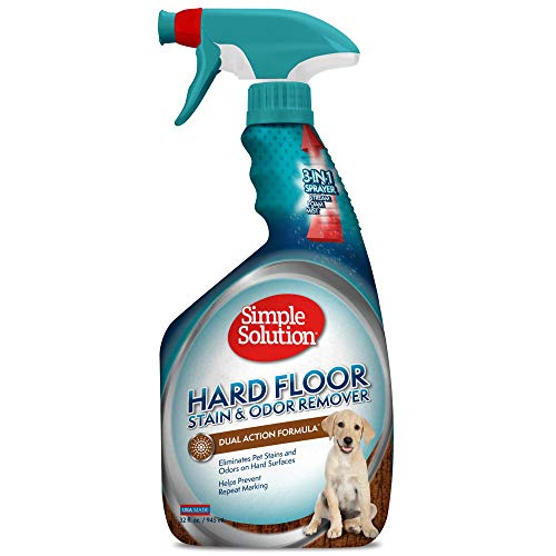 Simple Solution Hard Floor Pet Stain and Odor Remover | Dual Action Cleaner for Sealed Hardwood Floors | 32 Ounces (102011)