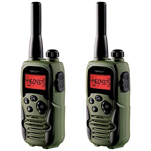 Topcom Walkie Talkie mit Reichweite bis zu 10 KM– mit Vibrationsalarm und Lautstärkeneinstellung, RC-6406