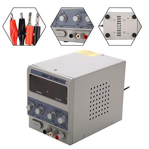 220V Labor Netzgerät DC Netzteil Trafo Regelbar 0-15V 2-5A Handy-Reparatur Netzteile,12,5 x 15,5 x 18,5 cm