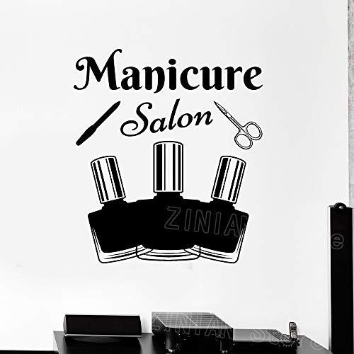 guijiumai Maniküre Werkzeuge Salon Wandtattoo Aufkleber Nagellack Schönheit Aufkleber Wanddekor...