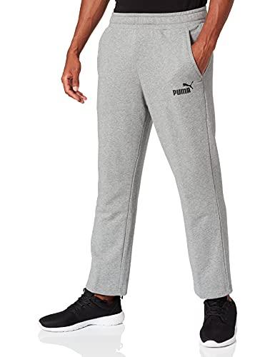 PUMA ESS Logo Pants TR op SRL Pants, Hombre, Medium Gray Heather, M
