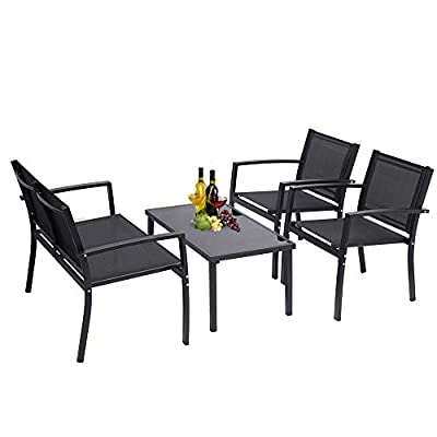 onEveryBaby 4 Pieces Patio Furniture Set Outdoo...