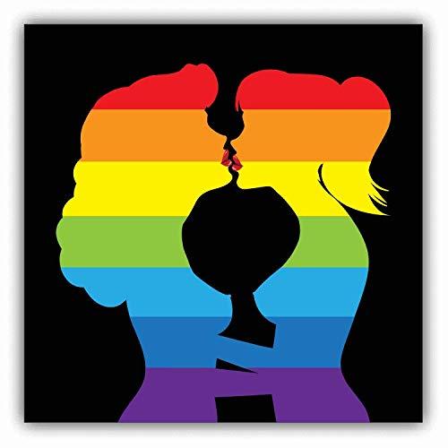 JJH Inc Magnet Lesbians Kiss Love Flexible Vinyl Magnet Waterproof Car Magnetic Bumper Sticker 5'