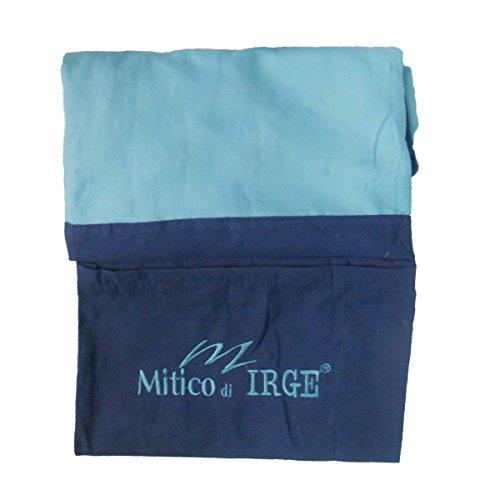 IL MITICO DI IRGE Telo Lettino Mare in Microfibra con Tasche Laterali ed Elastici Antiscivolo (Turchese)