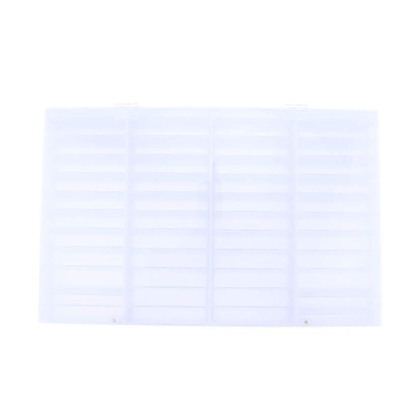 普通の羽簡略化するT TOOYFUL ネイルアート ディスプレイケース収納ボックス ネイルチップ 収納容器 44コンパートメント