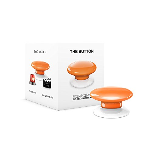 FIBARO The Button Z-Wave Plus Scene Controller On-Off Trigger, FGPB-101-8, Orange
