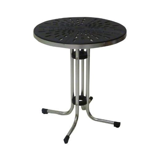 Tavolo tavolino in alluminio e pvc nero per casa bar ristorante balcone catering