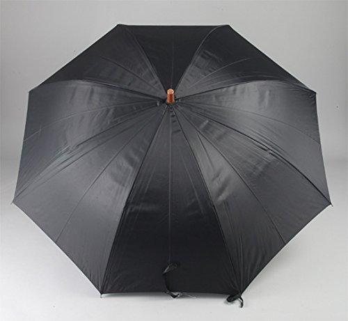 『アテイン 紳士用ジャンプ傘 親骨65cm 黒 3224』の2枚目の画像