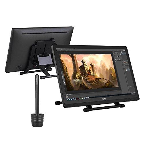 Ugee 2150 21.5 Zoll 1080P HD Grafikmonitor,Grafiktablett, Grafik Zeichnung Tablette, IPS Bildschirm, Einstellbar Monitor Anzeigen Stand, W / 2 x Intelligenter Stift, 5080LPI Auflösung