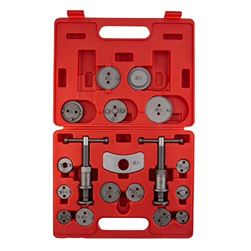 Sunex Tools 3930 Master Disc Brake Caliper Tool Set And Wind Back Kit, Compressor, Spreader Tool Set For Brake Pad Replacement With Magnetic Thrust Bolts, 18-Pieces