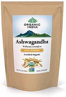 ORGANIC INDIA Ashwagandha Bulk Herb Powder, 1 lb