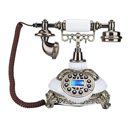 SMSOM Teléfono Vintage Dial Rotary Retro Antiguo teléfono Fijo Teléfono Fijo para la decoración del Bar de la Oficina de la Oficina del hogar, un Maravilloso Regalo