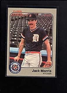 1983 Fleer #336 Jack Morris Authentic Autograph Signature Az2485 - Baseball Slabbed Autographed Cards