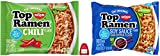 Top CHILI Flavor and SOY Sauce Soup Vegetarian Ramen Noodle 24 individual Packs Total 3-Ounce Unit (Bundled with: AfrEriAsm-TM) 12 individual pack for each flavor