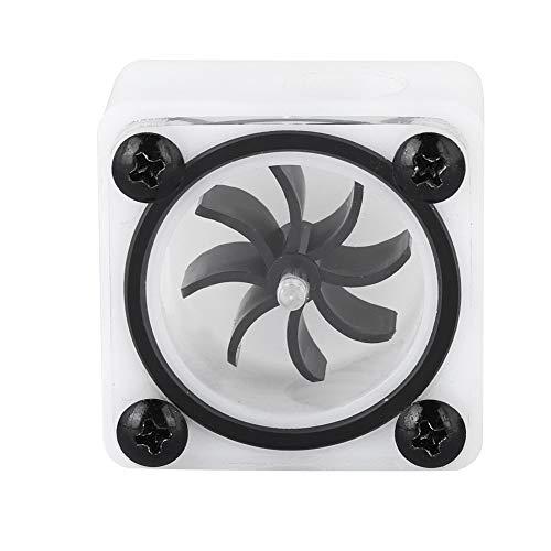 Durchflussanzeige, 2-Wege-/3-Wege-Wasserkühlungs-Durchflussmesser-Anzeige Laufrad-Wasserdurchflussmesser für PC-Computer Wasserkühlsystem, G1/4 2-Punkt-Gewindedrehzahl-Durchflussmesser(3 Wege)