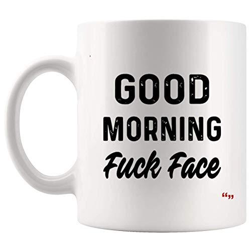 Sarcasm Esilarante tazza di caffè tazza - amico Tazze di compleanno buongiorno cazzo faccia nero bianco caffè Regali di Natale per la mamma papà