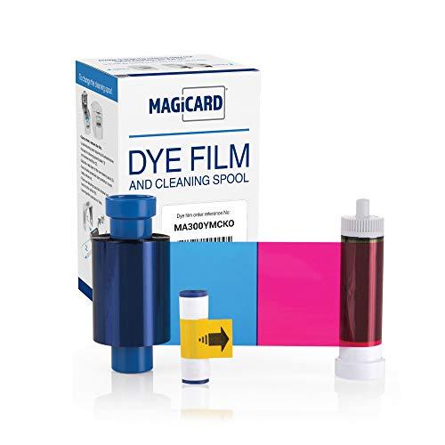 Magicard MA300YMCKO (EN1) Printer Ribbon - Prints up to 300 Cards | Rio Pro 360, Pronto, Enduro 3E, Rio Pro Dye Film | with Free Trial of EasyBadge Printing Software