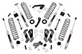 Rough Country 3.5' Lift Kit (fits) 2007-2018 Jeep Wrangler JK 4DR | N3 Shocks | Suspension System |...