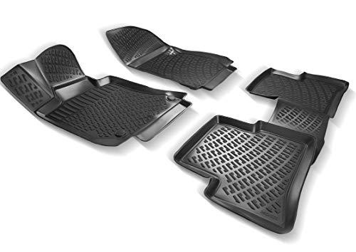 Elmasline Design 3D Gummimatten Set für Mercedes E-Klasse W211 Baujahr 2002-2009   Extra hoher 5cm Rand